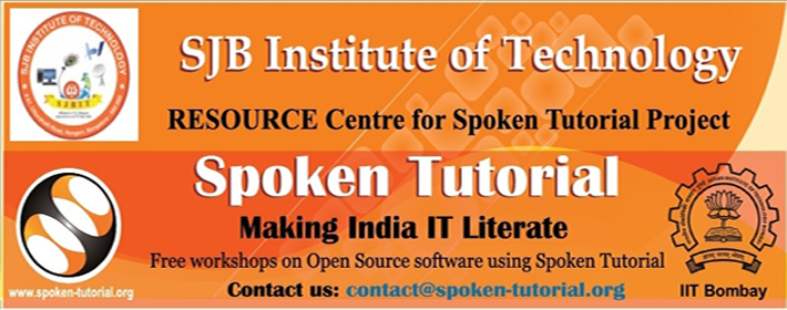 announces the collaboration with Spoken Tutorial Project of IIT Bombay ...